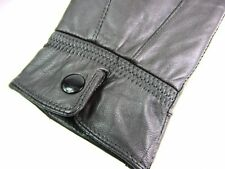 WOMENS LADIES SUPER SOFT GENUINE LEATHER FULLY FLEECE LINED GLOVES WINTER WARM