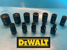 DEWALT 1/4 Drive Sockets / Set, Black chrome, 4,5,5.5,6,7,8,9,10,11,12,13,14 mm