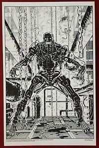 Terminator - 11x17 B&W Collecor Print #4 By Chris Warner - Dark Horse Comics