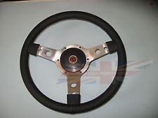 "New 14"" Leather Steering Wheel & Adaptor MGA & Midget 1964-67 MGB 1963-1967"