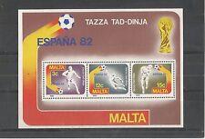 MALTA 1982 FOOTBALL WORLD CUP MINISHEET SG,MS697 UM/M NH LOT 2113A