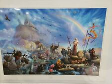 """Tom Dubois Painting Art """"The Celebration"""" Comes W/ Cert. Of Authenticity 5714"""