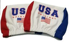Usa U.S.A America Headrest Cover American Flag Fit for Cars Trucks-Sold by Pairs