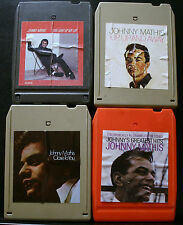 VINTAGE 8 TRACK TAPES, 4 JOHNNY MATHIS, GREATEST HITS, UP UP AWAY,YOU LIGHT UP