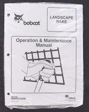 Bobcat Skid Steer Loader Tractor Landscape Rake Operators Manual Sealed
