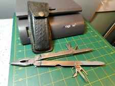 Vintage Leatherman Multi-Tool w/Black Non-Leatherman Leather Scabbard