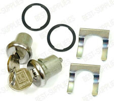 Silver Door Lock Cylinder PAIR / FOR LISTED GMC TRUCK & SUV