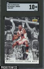 1992-93 Upper Deck Team MVP Michael Jordan Chicago Bulls HOF SGC 10 GEM MINT