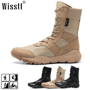 Mens Work Boots Waterproof Military Tactical Army Combat Hiking Motorcycle Shoes