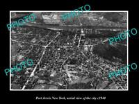 OLD LARGE HISTORIC PHOTO OF PORT JERVIS NEW YORK AERIAL VIEW OF TOWN c1940 4