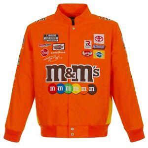 2021  Authentic Kyle Busch JH Design M&M's Snap  Orange Uniform Cotton Jacket