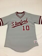 VTG Authentic Stanford Cardinal #10 Team Issued Baseball Jersey Sz 44 Game Worn