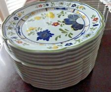 Vintage ESTE Pottery Box or Cookie Jar or Serving Bowl Flower Design Cover Italy