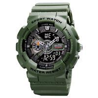 SKMEI Men Sports Military Alarm Data Waterproof Shock Analog Digital Wrist Watch