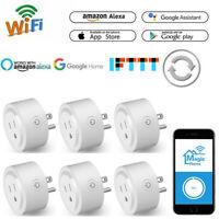 6Pack Wireless Smart Plug WiFi Sockets Power Socket For Amazon Alexa/Google Home