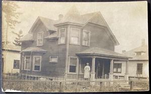 REAL PHOTO Postcard  ARLETA  Oregon  1908   UPTOWN
