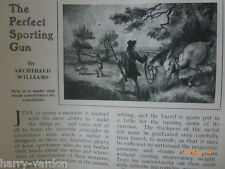 Perfect Sporting Gun Shooting Poacher Poaching Rare Old Antique Articles 1907