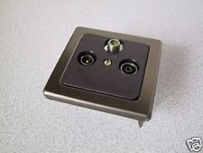 KOPP Antennendose SAT-TV-RF Dose VISION bronze-metall UP Unterpu Antennen 3-Loch