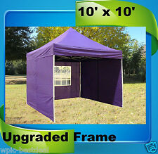 10'x10' Pop Up Canopy Party Tent EZ - Purple - F Model Upgraded Frame