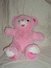 Dan Dee Pink Love Teddy Bear Hearts Plush Soft Toy Stuffed Animal 21""