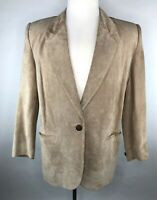 Dana Brooke Womens 8 / S Tan Silky Pig Suede Leather Jacket - Lined Cattleman