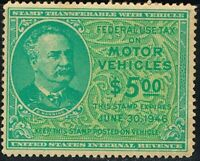 U S #RV53 Motor Vehicle Use Revenue Stamp, Unused issued 1946 O.G.