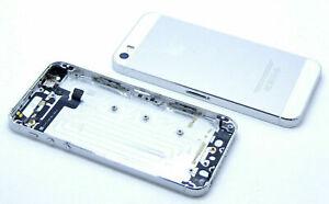 iPhone 5S A1453 A1457 A1518 A1528 Akkudeckel Backcover Power Volume Flex Silber