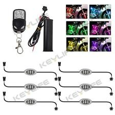 MultiColor 36LED(6Pod) Motorcycle Accent UnderGlow Neon Light Kit Remote Control
