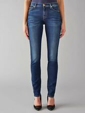 7 FOR ALL MANKIND Dark Blue Whiskered ROXANNE Skinny Jean 28