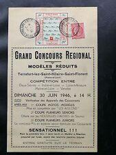 TIMBRES DE FRANCE : GRAND CONCOURS REGIONAL MODELES REDUITS TERREFORT JUIN 1946