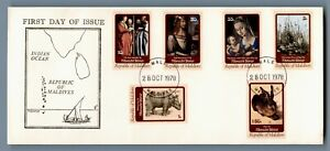 DR WHO 1978 MALDIVES FDC PAINTINGS BY ALBRECHT DURER  C240550