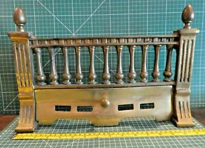 """Two Piece ~ 16"""" ~ Solid Cast Brass fire grate front ~UKD 1495 ~ nice"""