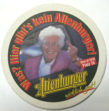 ALTENBURGER Was? Hier Gibt's Kein Bier Beer COASTER, Mat, GERMANY 2010, Platz 10