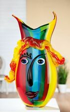 Extraordinary 37cm Picasso Tribute Art Glass Face Vase FREE WORLDWIDE SHIPPING