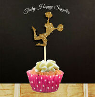 Cheerleader Cupcake Topper  6 or 12, in 29 glitter colours, Birthday cake
