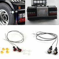 For LESU Tamiya Tractor RC Truck DIY Car 1/14 Telltale Lamps LED Side Lights 2X