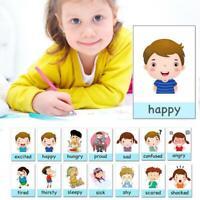14 X Emotionskarten Kinder Cartoon Englisch Lernkarte Emotional Education Card