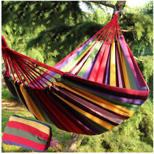 Portable One Person Rope Hammock Camping Travel Double Cotton Hammock Swing New