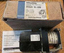 NEW NOS Siemens Hilsschutz 3TA60 10-4BB Industrial Relay 24 Volts D/C