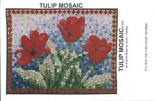 "TULIP MOSAIC sewing pattern 49""x37"" WALL QUILT sew chain piecing WALLHANGING new"