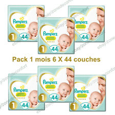 PAMPERS New Baby Pack 1 mois 264 Couches Taille 1 Couches pour Bébé 2 à 5Kg