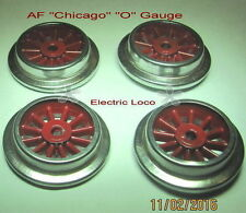 "American Flyer Chicago ""O"" gauge, Electric Wheel Set, (2 Plain, 2 w/Gear Lug)"