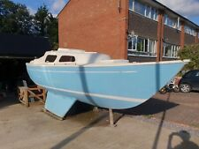 Hurley 22 bilge keel sail boat, boat project with outboard motor
