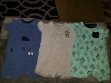 Lot Of 3 12-24 Months Boys  Rompers Gymboree, carters