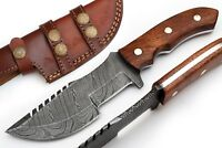 Beautiful Custom Hand Made Damascus Hunting Traker Knife 9 Inch Walnut Handle