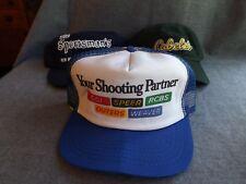 Vintage Lot 3 CCI SPEER RCBS OUTERS WEAVER Ammunition Bullets Guns Cabela's Hats