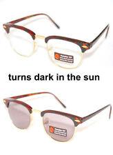 Men's True Vintage 80's Clubmaster Sunglasses Soho Brown Photochromatic Lens