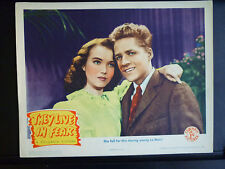 1944 THEY LIVE IN FEAR - LOBBY CARD - WWII - NAZIS - WAR - ESCAPE TO AMERICA