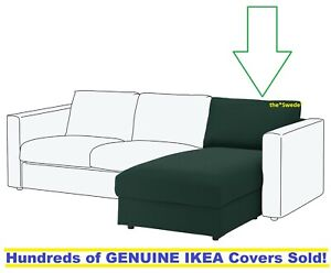 IKEA Vimle Chaise Lounge Section Cover Slipcover GUNNARED DARK GREEN New SEALED