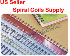 100sheets  5/16inch 7.9mm Metal Spiral Coils Punching Binding Material Supply